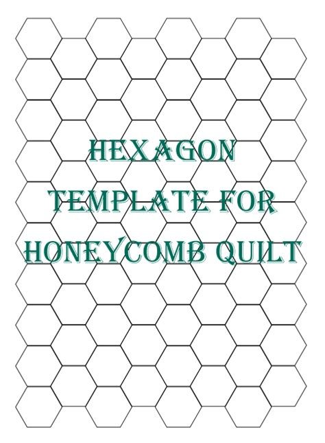 Hexagon Quilting Templates hexagon patchwork on hexagon quilt hexagons