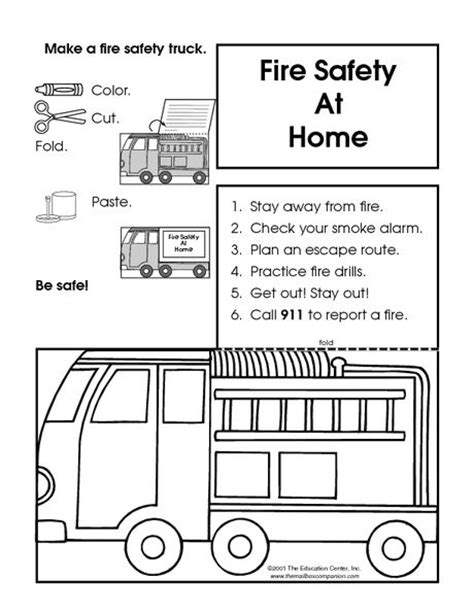 printable fire truck maze 17 best images about fire safety preschool on pinterest