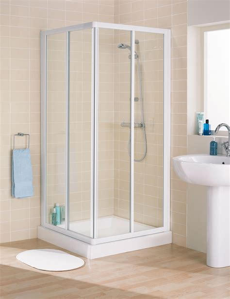 white shower lakes classic framed corner entry shower enclosure 750mm white