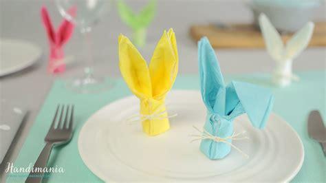 Hasen Servietten Falten by How To Fold A Bunny Napkin Easter Craft Ideas 1
