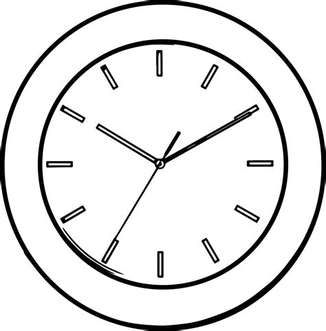 printable clock pages line clock coloring page wecoloringpage