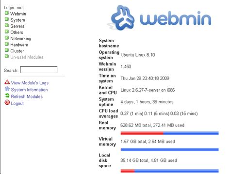 tutorial webmin linux using webmin to add users create mysql databases and