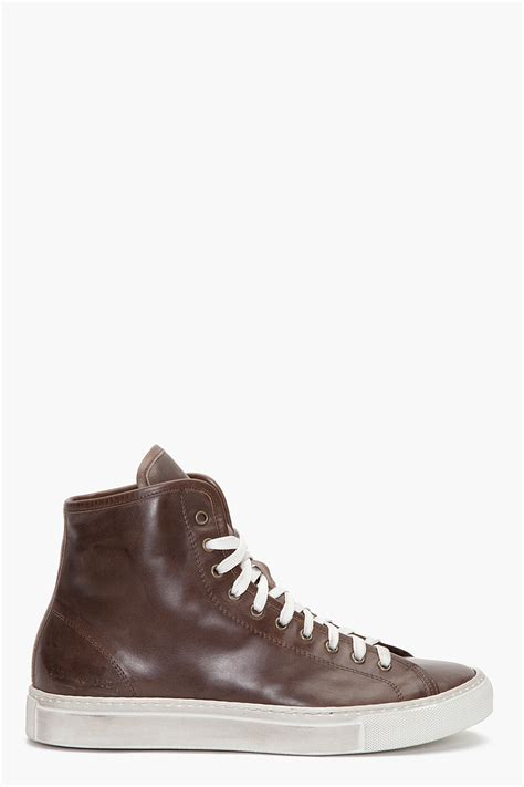 common projects sneakers review common projects tournament high sneakers in brown for