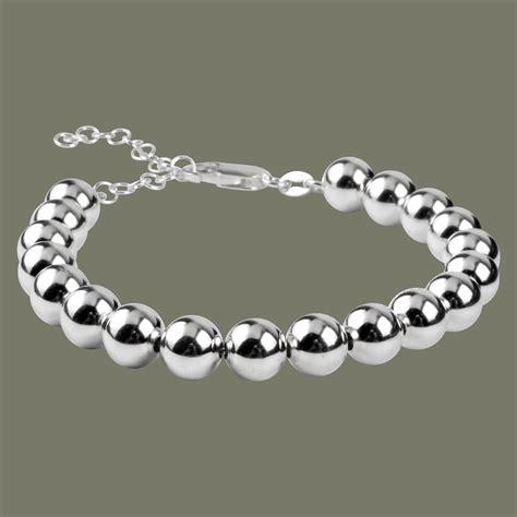 co bead bracelet sterling silver 8mm bead bracelet