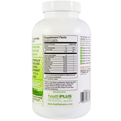 Colo Cleanse health plus inc colon cleanse 500 mg 240 capsules iherb