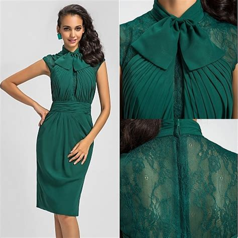 robe de soriee dark green cocktail dresses 2017 high neck