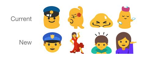 android new emoji android n beginning to get new emoji change ones androidheadlines