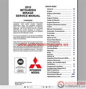 mitsubishi mirage 2015 workshop manual auto repair