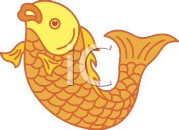 golden carp koi fish royalty  clipart image