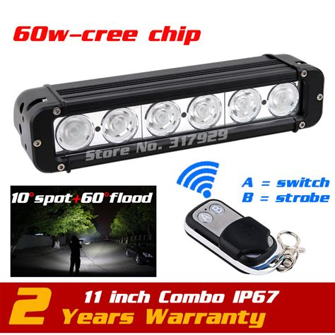 11 60w Led Work Light Bar Bar Wireless Remote With ᐅ Wireless Led Light Bar