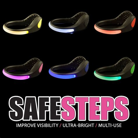safety lights for runners at night safe steps clip on led shoe lights for runners walking