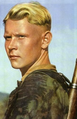 ss haircut german forces young waffen ss grenadier