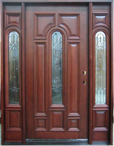 Exterior Wood Door Discount Door Center Prehung And Prefinished Center Arch Entry Door With Sidelights