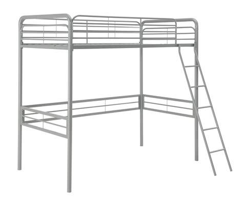 metal twin loft bed dhp furniture metal twin loft bed