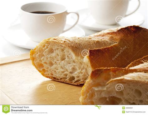 Bread And Coffee Stock Image   Image: 20808961