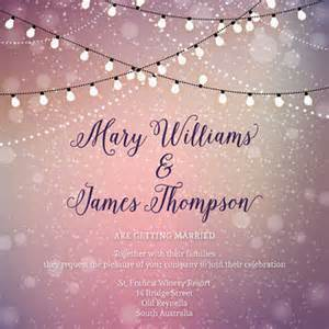 Luxury White Bedroom - twinkle lights wedding invitations from paperboundlove on etsy