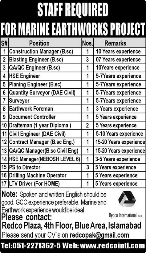 Surveyor Jobs - surveyor earthwork foreman draftsman civil engineer jobs 2018 jobs pakistan jobz pk