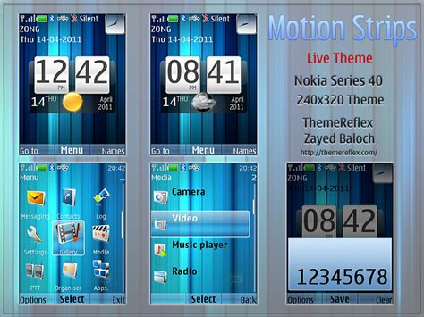 live themes nth motion strips live theme for nokia x2 c2 01 themereflex