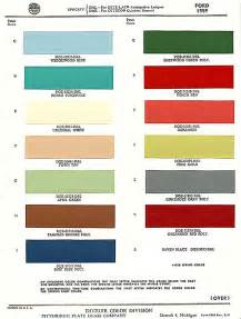 a 1959 ford exterior paint chip color chart quot when