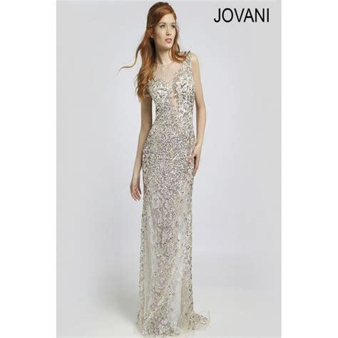chagne beaded gown jovani chagne beaded prom dress 22296 wedding dresses