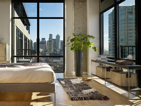 bedroom city modern urban green loft design mosler lofts digsdigs