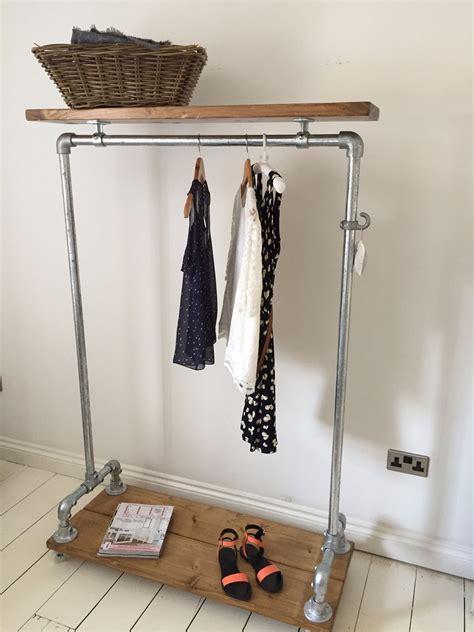 design clothes rail details about vintage industrial clothes rail shelf