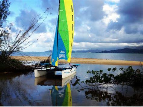 catamarans for sale oahu hobie catamaran snorkel sail at kaneohe bay sandbar oahu
