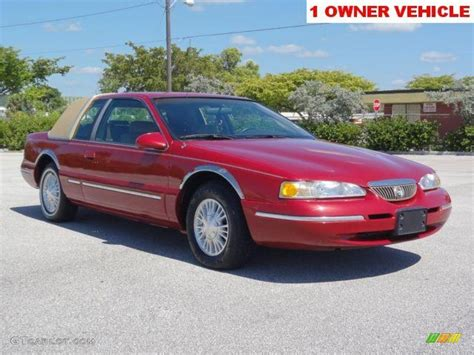 blue book value for used cars 1988 mercury topaz security system 1996 laser red tinted metallic mercury cougar xr7 66273725 gtcarlot com car color galleries