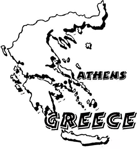 coloring map of ancient greece coloring pages