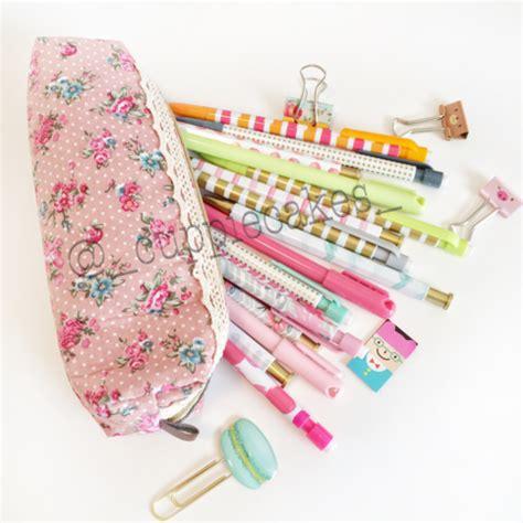 Floral Print Pencil Pouch pink vintage floral pencil pouch bag 183 shop cuppiecakes
