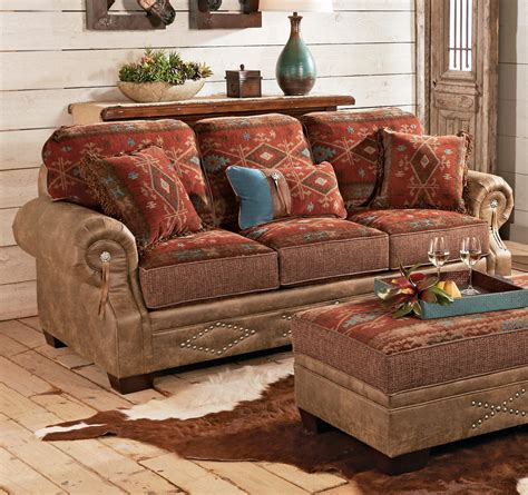 southwestern couch ranchero southwestern sofa