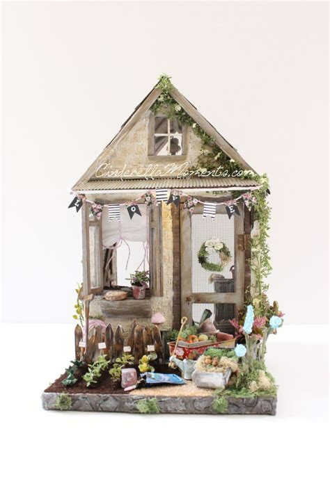 doll house shed petite maison de jardin custom furnished lighted garden shed dollhouse gardens