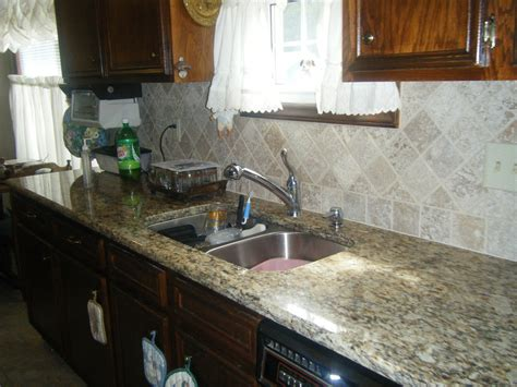 kitchen backsplash with granite countertops santa cecilia granite countertops with tile backsplash in