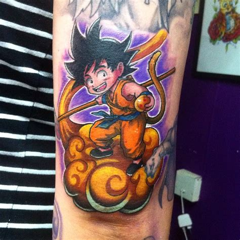 on point tattoo ideas featuring kid goku
