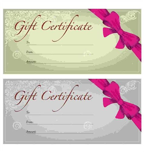 christmas printable voucher templates free christmas gift voucher template template update234