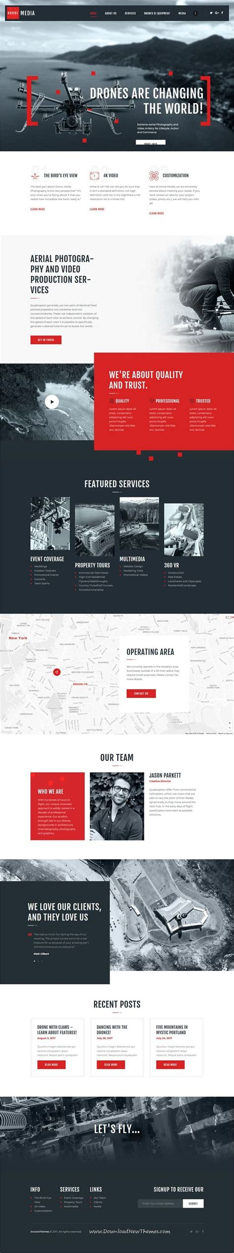 Drone Media Aerial Photography Videography Wordpress Theme Aerial Photography Videography Aerial Photography Website Templates