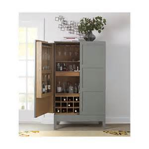 Gray Bar Cabinet Victuals Grey Bar Cabinet Crate And Barrel