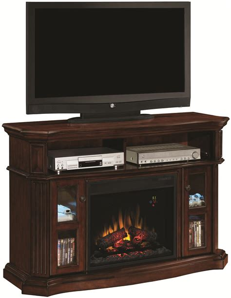 Tv Component Cabinet With Glass Doors by Classicflame Aberdeen Aberdeen Electric Fireplace Media