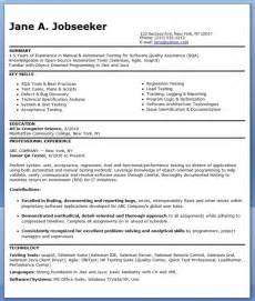 Qa Tester Entry Level qa software tester resume sle entry level resume downloads
