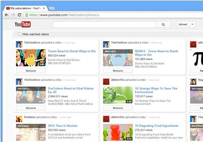 youtube layout broken chrome get a wider grid like youtube layout hide watched