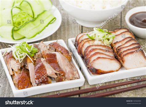 Simple Duck And Char Siu Rice by Char Siu Pork Peking Duck Traditional Roasted
