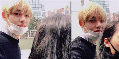 bts girlfriend bts v gets hearts dropping by uploading a selca with a