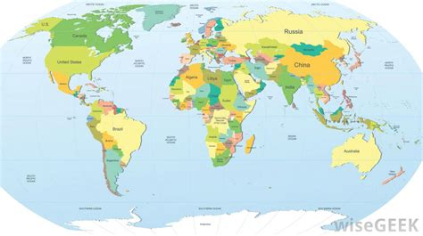global map with country name countries page 1