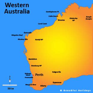 map of western australia with cities and towns western australia accommodation beautifuloz