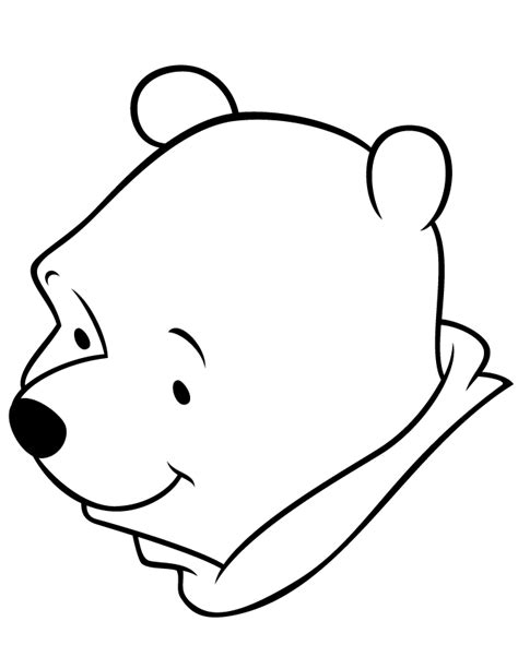 Easy Winnie The Pooh Bear For Toddlers Coloring Page H Simple Colouring Pages