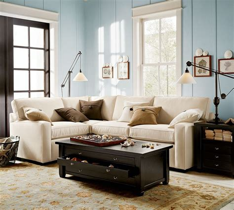 decorating pottery pottery barn ottoman coffee table laminate wooden floors