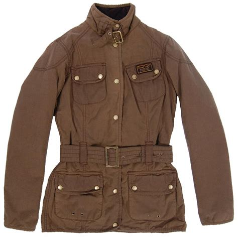 Bbb New Vintage Denim Jacket Intl barbour vintage international wax jacket sandstone womens jackets from attic clothing uk