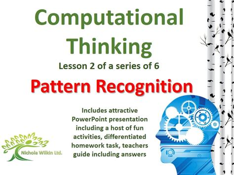 pattern recognition exles pattern recognition computational thinking lesson by