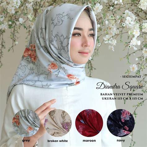 Jilbab Segi Empat Velvet Motif daftar harga pasaran jam tangan wanita terbaru mei 2018