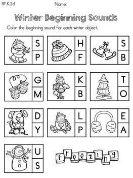 kindergarten activities january kindergarten winter literacy worksheets common core